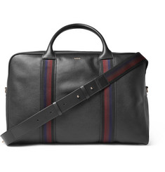 Paul Smith - Webbing-Trimmed Full-Grain Leather Holdall