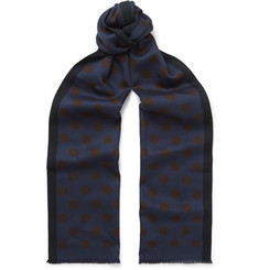 Paul Smith Polka-Dot Flannel Scarf