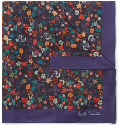 Paul Smith Floral-Print Cotton Pocket Square