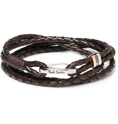 Paul Smith - Woven Leather Wrap Bracelet