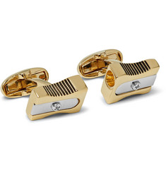 Paul Smith Pencil Sharpener Gold and Silver-Tone Cufflinks
