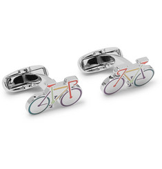Paul Smith Bike Enamelled Silver-Tone Cufflinks