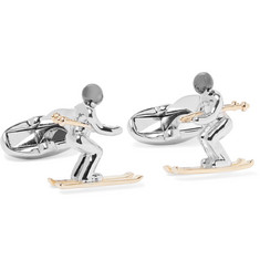 Paul Smith Skier Gold, Silver and Gunmetal-Tone Cufflinks