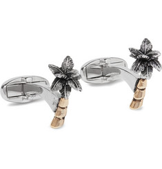 Paul Smith Palm Tree Silver and Gold-Tone Cufflinks