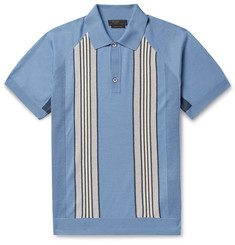 Prada Slim-Fit Striped Virgin Wool Polo Shirt