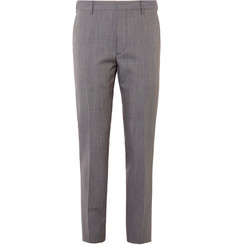Prada - Puppytooth Virgin Wool and Mohair-Blend Trousers