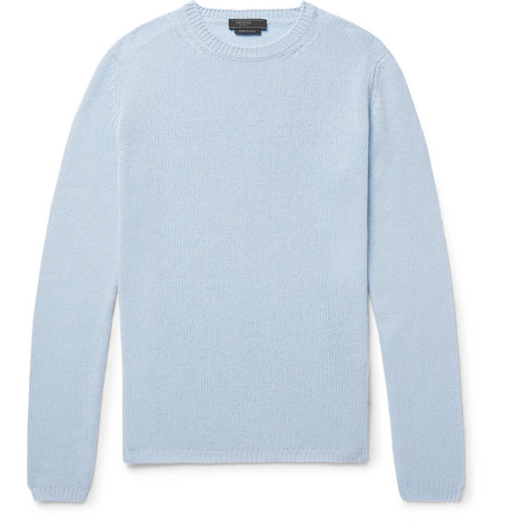 Prada Slim-fit Cashmere Sweater - Sky Blue