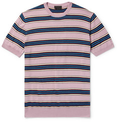 Prada - Slim-Fit Striped Wool and Silk-Blend Sweater