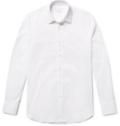 Prada - White Slim-Fit Stretch Cotton-Blend Shirt