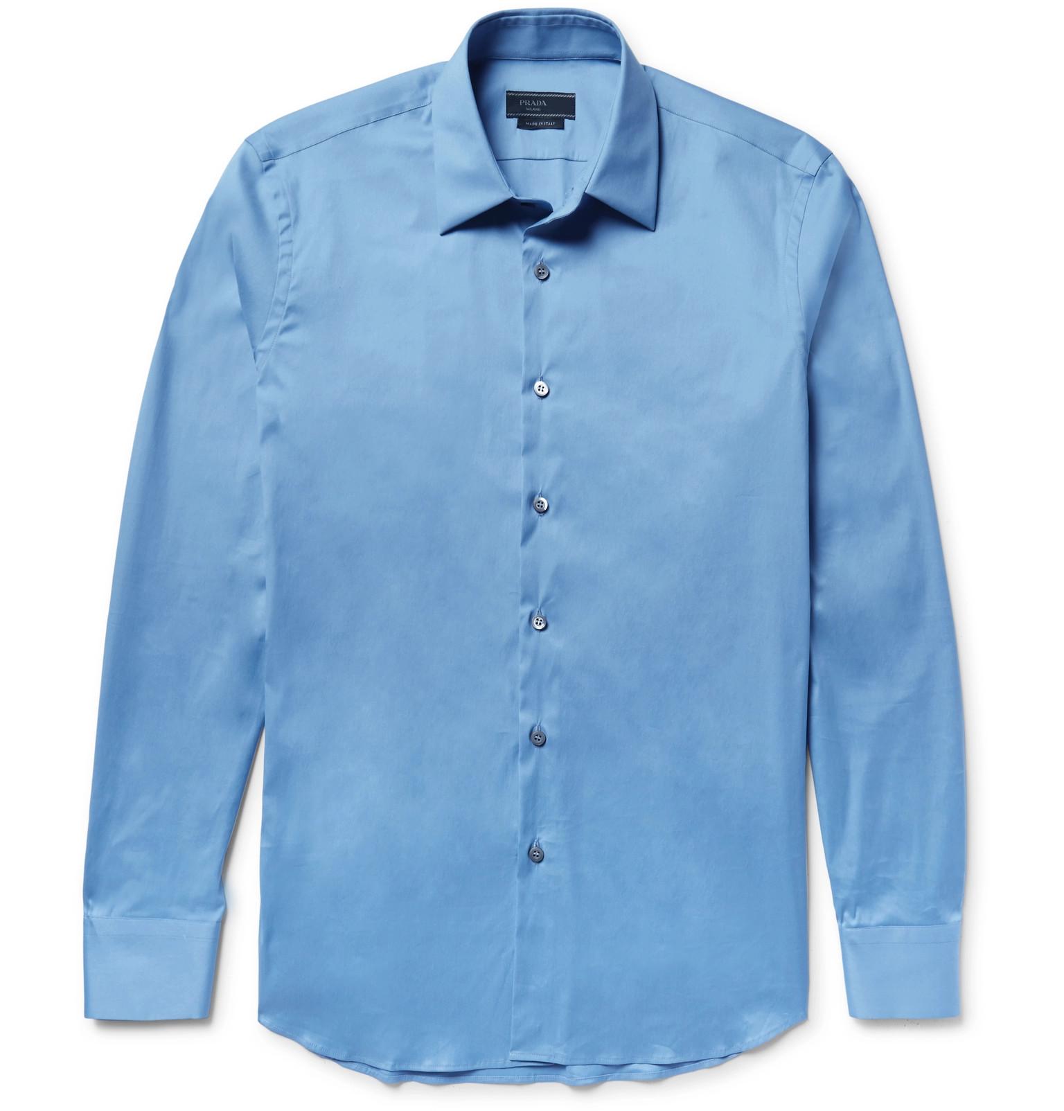 2008852d Prada - Stretch Cotton-Blend Poplin Shirt