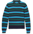 Prada - Striped Virgin Wool and Cashmere-Blend Sweater