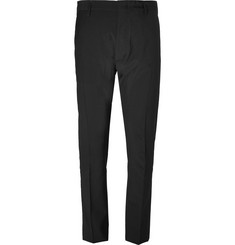 Prada Striped Stretch Wool and Silk-Blend Seersucker Trousers