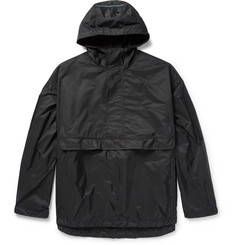 Prada Nylon Half-Zip Hooded Jacket