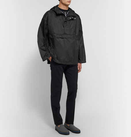 Rpaowrrqn Prada Half Nylon Zip Hooded Jacket wfXxfqa7A