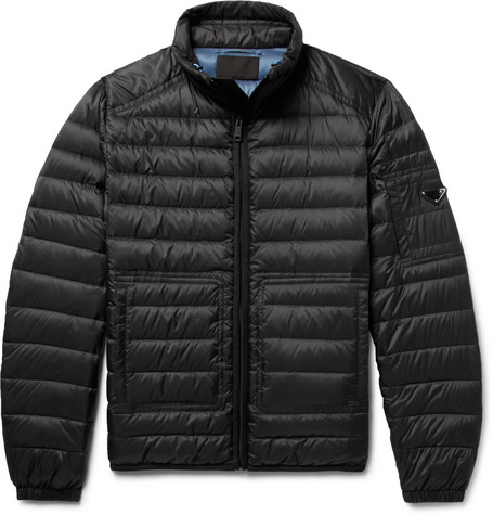 Quilted Shell Down Jacket by Prada