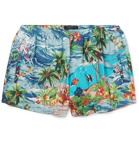 Short Length Printed Swim Shorts by Prada