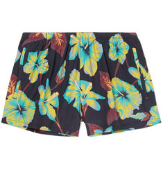 Prada - Slim-Fit Short-Length Printed Shell Swim Shorts