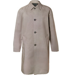 Prada Puppytooth Coated-Cotton Coat