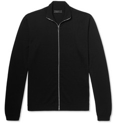 Prada - Slim-Fit Virgin Wool Zip-Up Sweater