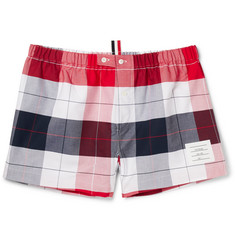 Thom Browne Checked Cotton Oxford Boxer Shorts