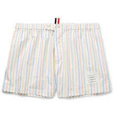Thom Browne Striped Cotton Oxford Boxer Shorts
