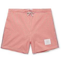 Thom Browne Short-Length Striped Seersucker Swim Shorts