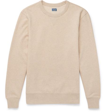 9921c8b85dacae J.Crew Loopback MÉLange Cotton-Jersey Sweatshirt - Sand ...