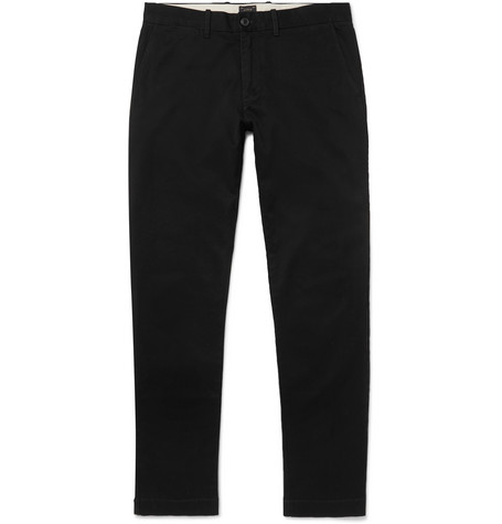 484 Slim-fit Stretch-cotton Twill Chinos - Black