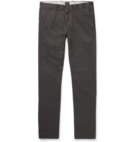 484 Slim-fit Stretch-cotton Twill Chinos - Gray