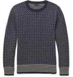 J.Crew Two-Tone Wool Sweater