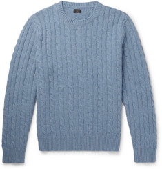 J.Crew Cable-Knit Wool Sweater