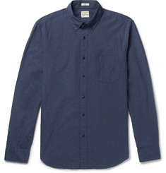 J.Crew Secret Wash Button-Down Collar Cotton-Poplin Shirt