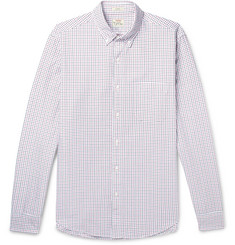 J.Crew - Slim-Fit Button-Down Collar Checked Cotton Oxford Shirt