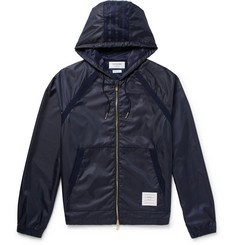 Thom Browne Mesh-Trimmed Ripstop Hooded Jacket
