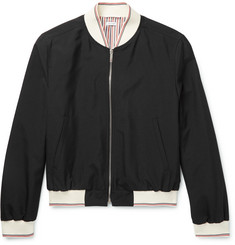 Thom Browne Grosgrain-Trimmed Wool-Blend Bomber Jacket