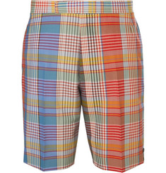Thom Browne Checked Wool Shorts
