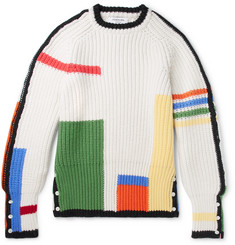 Thom Browne - Colour-Block Ribbed Wool Sweater