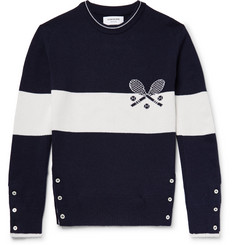 Thom Browne Slim-Fit Intarsia Cashmere Sweater