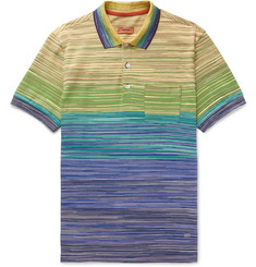 Missoni - Space-Dyed Cotton-Jersey Polo Shirt