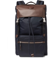 Dunhill - Guardsman Leather and Nylon Backpack