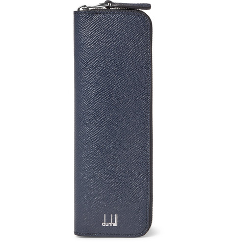 dunhill male fullgrain leather pen case