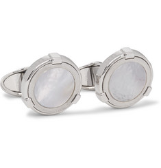 Dunhill Silver-Tone Mother-of-Pearl Cufflinks