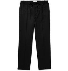 AMI Slim-Fit Virgin Wool-Twill Drawstring Trousers