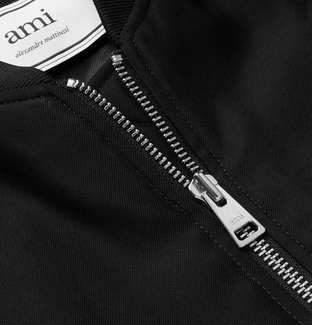 Satin Twill Bomber Jacket by Ami