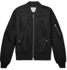AMI Satin-Twill Bomber Jacket