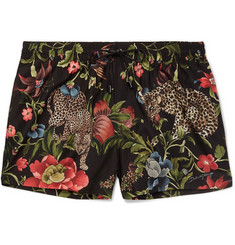 Dolce & Gabbana Slim-Fit Short-Length Printed Shell Swim Shorts