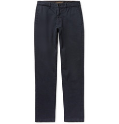 Freemans Sporting Club Slim-Fit Herringbone Cotton Trousers