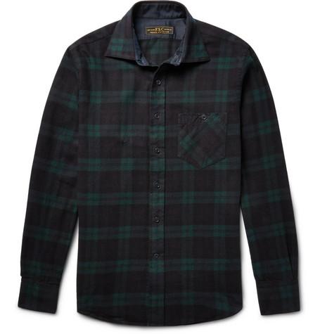 Freemans sporting club hopkins black watch checked for Black watch flannel shirt