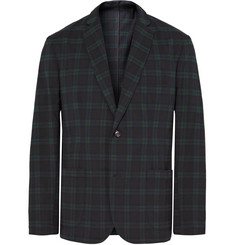 Freemans Sporting Club Shacket Slim-Fit Checked Woven Blazer