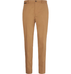 Dolce & Gabbana Slim-Fit Logo-Print Stretch-Cotton Gabardine Trousers